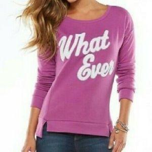 """Juicy """"Whatever"""" Purple Sweatshirt"""